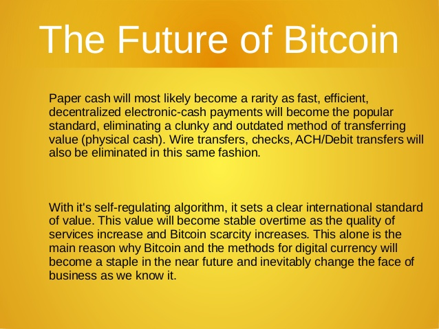 Future of Bitcoins