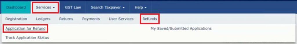 claim refund on GST Portal
