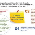 Internal Financial Control