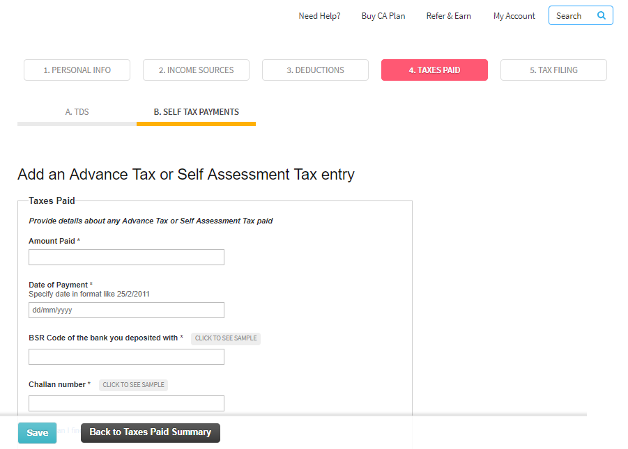 application form tax