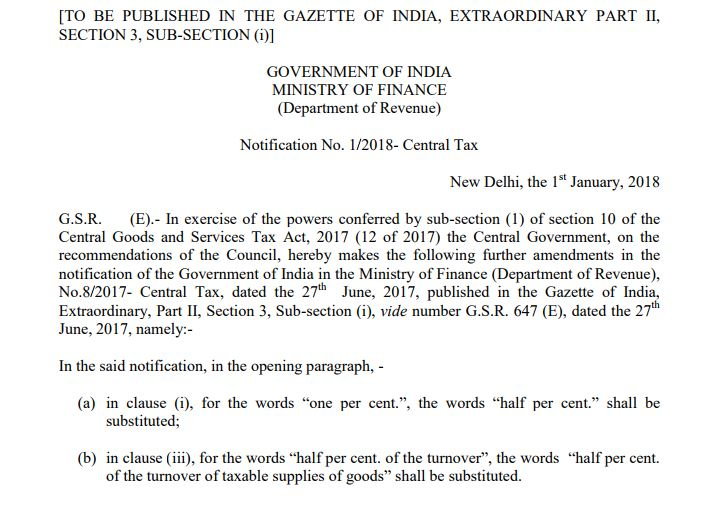 Central Tax Notification
