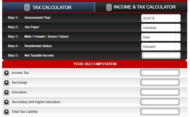 Tax Calculator By Taxmann