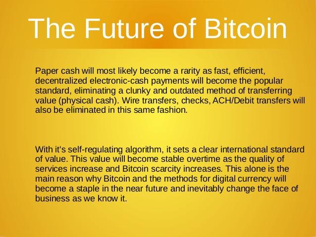 Future of Bitcoins