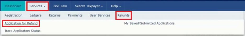 claim refund on GST Portal