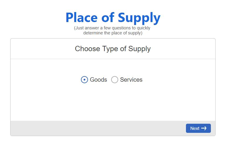 Free tool to know Place of Supply under GST