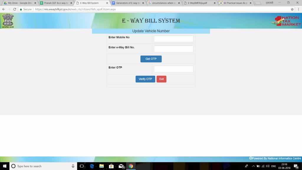 e-way bill update