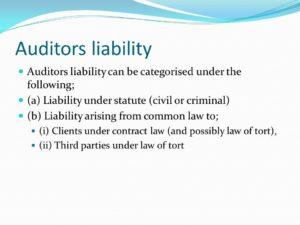 Liabilities of auditors?