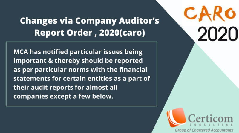 Company Auditor's Report Order