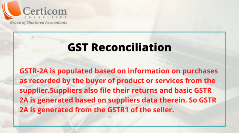 chartered accountant in bangalore,GST Reconciliation