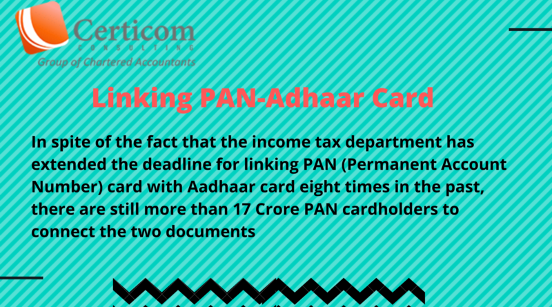Linking PAN-Adhaar Card,